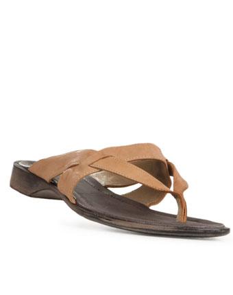 Papuci bej din piele naturala