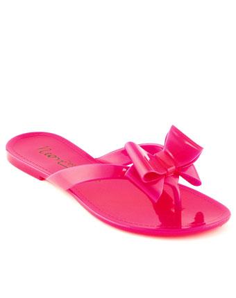 Papuci Petite Jolie roz neon