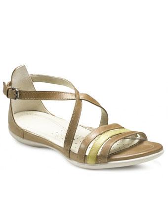 Sandale comode dama piele maro deschis
