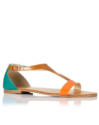 Sandale tricolore lacuite