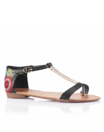 Sandale cu brida metalizata
