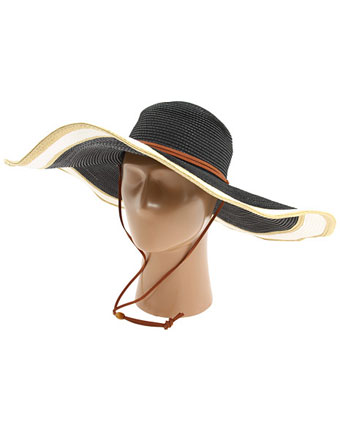 Palarie Echo Design Straw With Contrast Brim
