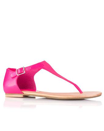 Sandale lacuite fluorescente