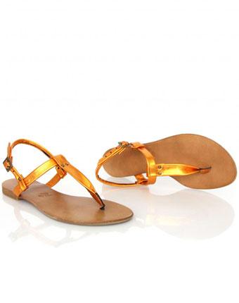 Sandale metalizate Atelierele harniciei
