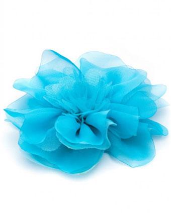 Floare supradimensionata turquoise deschis