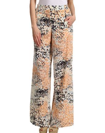 Pantaloni largi BCBGMAXAZRIA