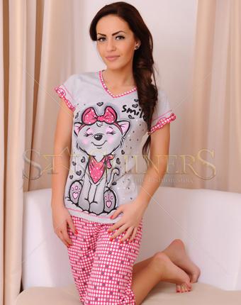 Pijama Always Smile Grey