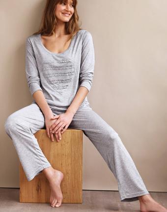 Pijama cu maneca lunga din jerseu