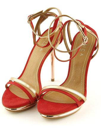 Sandale Epica rosii din piele intoarsa