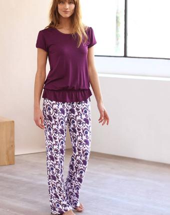 Pijama cu maneca scurta din jerseu