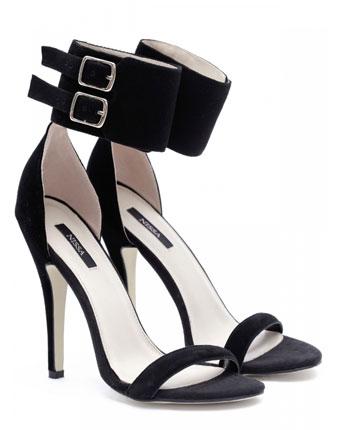 Sandale elegante cu toc inalt negre