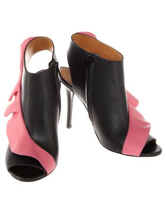Sandale in doua culori cu volane Balenciaga
