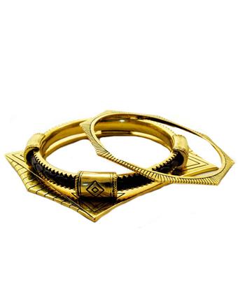 Bratari aurii fixe metalice