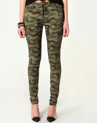Blugi khaki military skinny