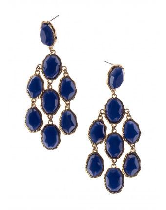 Cercei cu pietre albastre Lily