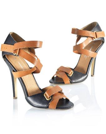 Sandale bicolore femei