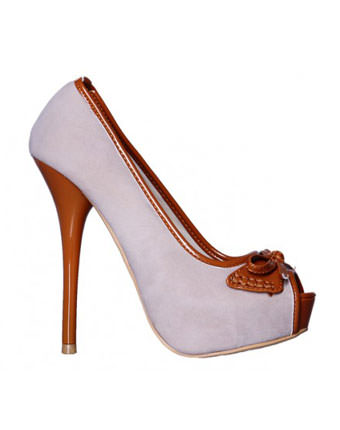 Pantofi dama beige camel Raven