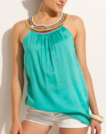 Bluza fara maneci pentru femei BEACH reduceri de vara 3suisses