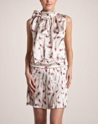 Rochie cu guler esarfa pentru femei