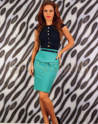 Fusta Fofy Classic Trend turquoise