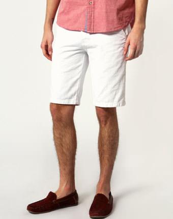 Pantaloni scurti barbati albi
