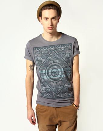Tricou cu imprimeu Paisley