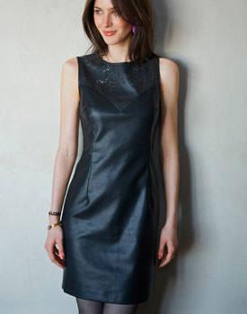 Rochie imitatie de piele