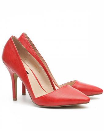 Pantofi rosii stiletto Nissa