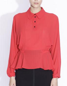 Bluza rosie cu guler Nissa