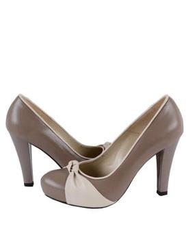 Pantofi din piele naturala capuccino