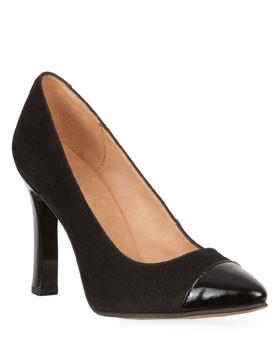 Pantofi Clarette negri din piele naturala