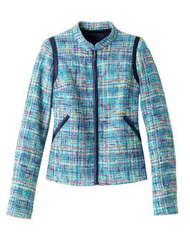 Sacou din tweed cu fermoar