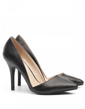 Pantofi negri stiletto Nissa