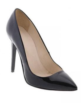 Pantofi negri din piele lacuita