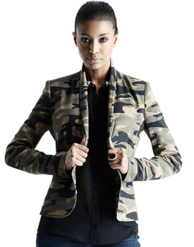 Sacou military din tricot