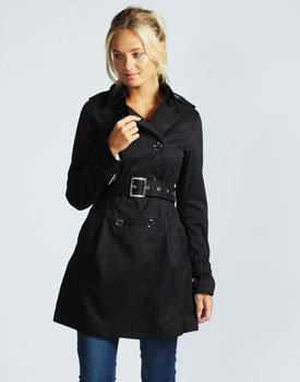 Trench negru military style