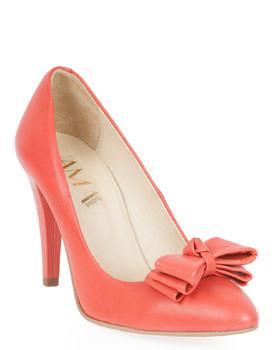 Pantofi corai din piele naturala