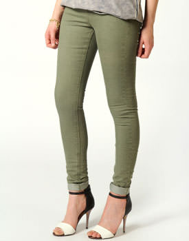 Jeans khaki Turn Up skinny