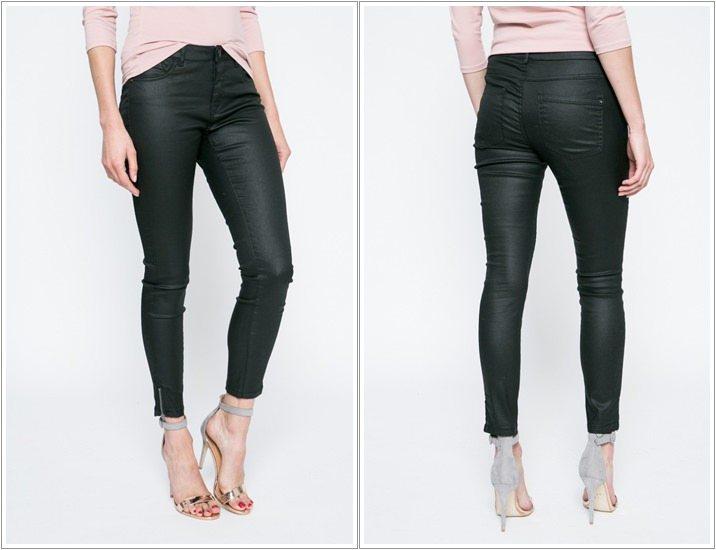 Pantaloni imitatie piele Only