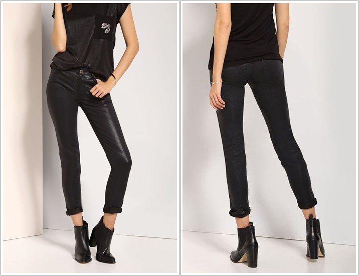 Pantaloni imitatie piele Top Secret