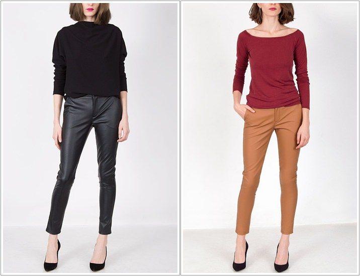 Pantaloni din piele Andreea Raicu
