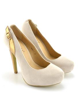 Pantofi Eto bej