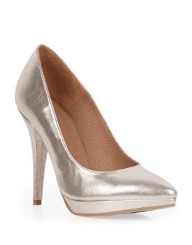 Pantofi aurii stiletto