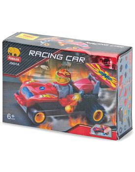 Cadouri de Mos Nicolae pentru copii Set constructie masina curse pull back