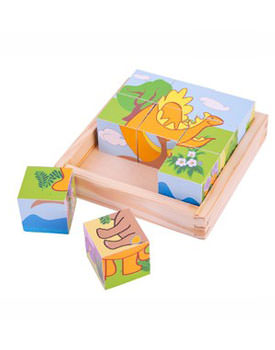 Puzzle cubic dinozauri