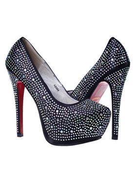 pantofi de ocazie pentru femei negri Calina