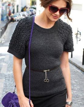 Pulover din tricot bucleu