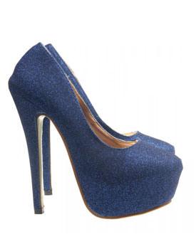 Pantofi albastri Hilda