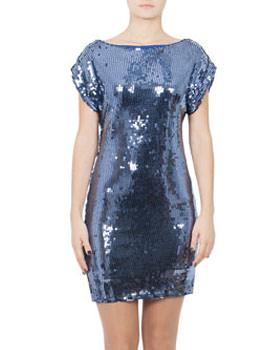 Rochie albastra cu paiete
