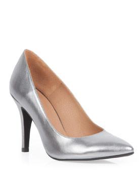 Pantofi argintii stiletto